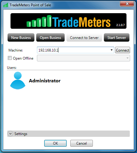 9 TradeMeters POS Software Connect to Server from Client System
